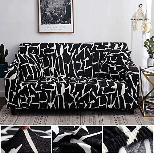 Funda de sofá geométrica elástica elástica Moderna Funda de sofá para Silla Fundas de sofá para Sala de Estar Protector de Muebles A23 2 plazas