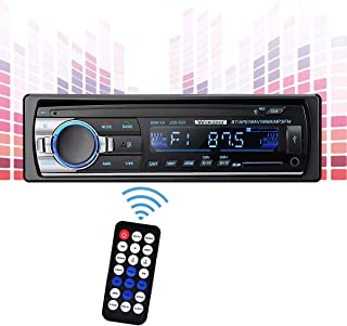 Wikoo Car Stereo with Bluetooth,in-Dash Single Din Car Audio Stereo Receiver,Remote Control Car Radio Receiver,MP3/WMA Pla... photo