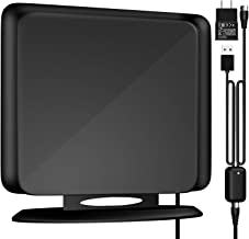 [Upgrade 2019] 120Miles Directional TV Antenna-Indoor High Reception Amplified HDTV Antenna for TV Signals High Reception Digital TV Antenna for 4K/VHF/UHF/1080P Free Channels 13ft Coax