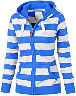 Women Sexy Zipper Tops Hoodie Hooded Sweatshirt Coat Jacket Casual Slim Jumper