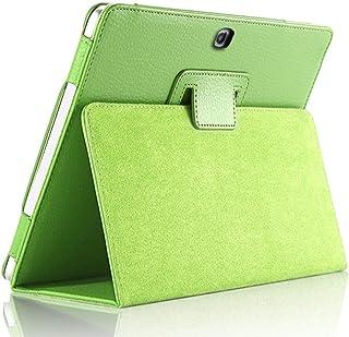 Funda para Samsung Galaxy Tab 4 10.1 Pulgadas SM-T530 T535 T533 Tab4 10 T530 T531 T535 Soporte de Funda para Tableta Flip Funda de Cuero PU-T530 T531 T535 Verde