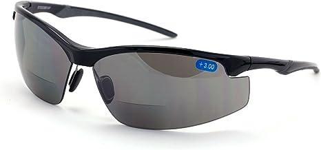 V.W.E. Bifocal High Performance Protective Safety Glasses Light Mirror Tint Bifocal - Reader - Sunglasses (Black, 1.50)