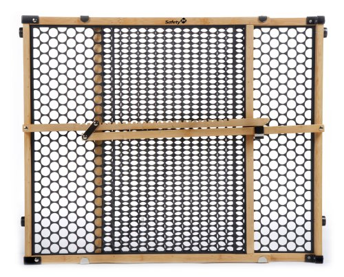 """Safety 1st Eco-Friendly Nature Next Bamboo Gate, Bamboo and Black, Fits Spaces between 28"""" and 42"""" Wide"""