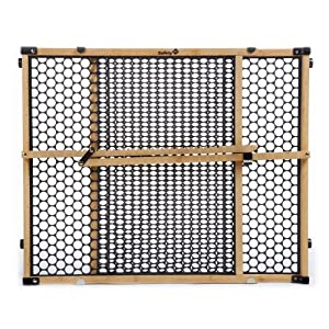 Safety 1st Eco-Friendly Nature Next Bamboo Gate, Bamboo and Black, Fits Spaces Between 28″ and 42″ Wide