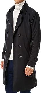 [エムシー] 撥水加工 メンズ トレンチコート ベルト付き ダブル ロング コート
