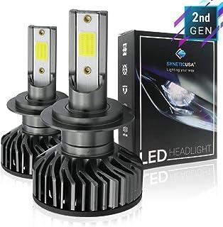 New H7 LED High/Low Beam COB Headlight Conversion Kit DRL Light Bulbs 2400LM 6000K White, 2 Yr Warranty Better than Halogen