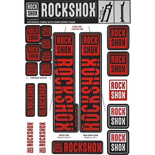 RockShox Aufklebersatz 35mm rot, Pike/Lyrik/Yari/Domain/Revelation, 11.4318.003.509 Ersatzteile, Standrohre
