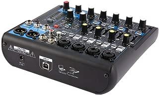 8 Canales DJ Profesional Powered Mixer Power Amplificador de Mezcla USB Slot 16DSP + 48V Phantom Power para micrófonos Vida Solitaria
