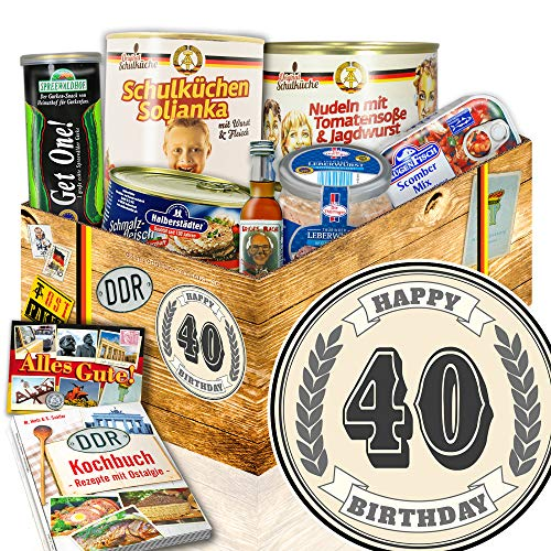 40 Geburtstag - Ostalgie Set Spezialitäten - Ostprodukte Paket