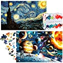 "Homofy Space&Starry Night 19.7""x29.5"" with 2 Challenging Puzzle"
