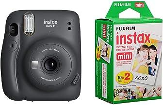 Fujifilm Instax Mini 11 Instant Film Camera, Charcoal Gray - with Slinger Instax Mini 11 Accessory Kit Charcoal Gray, 2X F...