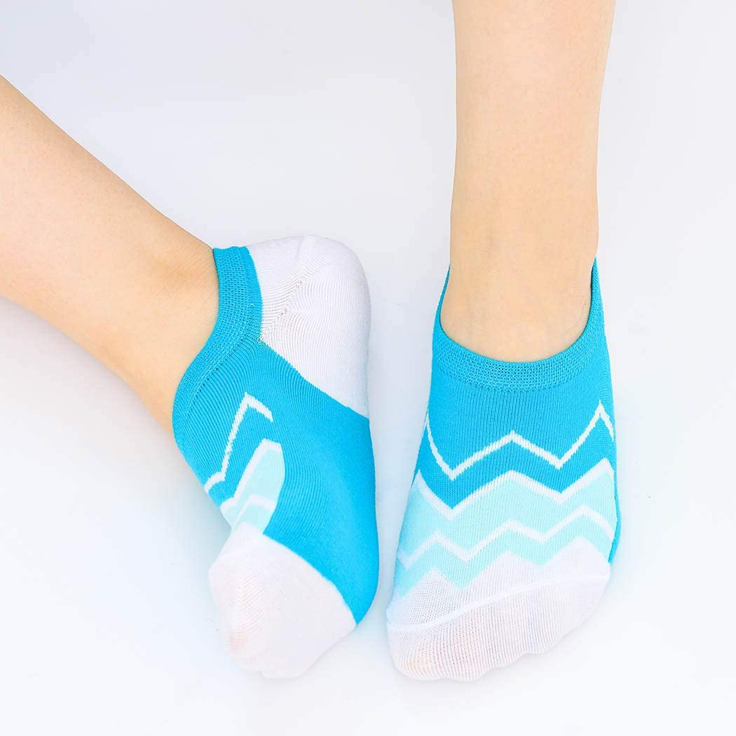 Campsis Fashion Non Slip No Show Sock Colorful Soft Breathable Low Cut Socks Cute Printed Cotton Liner Casual Flat Boat Socks Summer Daily for Women and Girls