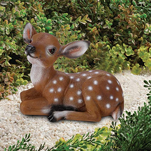Worii 【𝐂𝐡𝐫𝐢𝐬𝐭𝐦𝐚𝐬 𝐆𝐢𝐟𝐭】 Garden Deer Statues, Simulated Sika Deer Garden Decor Scene House Patio Ornaments Resin Adorable Animal Figurine or Spring Outdoor Decoration
