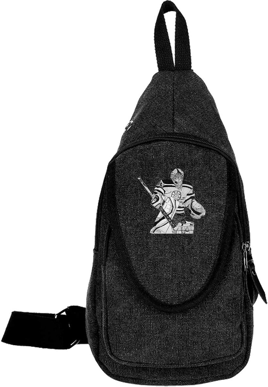 Canvas Sling Chest Bag Backpack B-oston B-Ruins of Man Outdoor Crossbody Bag Lightweight for Men Women