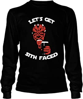 NEBNECK Let's Get Sith Faced T Shirt, Darth Maul T Shirt - Long Sleeve Tees