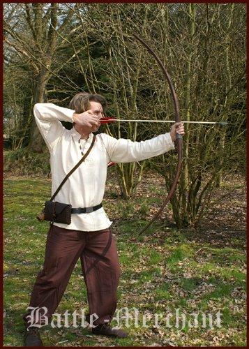 Linkshänder Langbogen Agincourt 58 Zoll 147 cm lang dunkelbraun mit. Sehne 15 – 40 lbs – Mittelalter – LARP – Wikinger Bogen (40 Ibs) - 2
