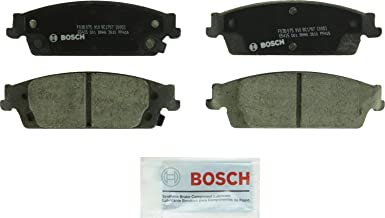 Bosch BC1707 QuietCast Premium Ceramic Disc Brake Pad Set For Select Cadillac Escalade, Escalade ESV; Chevrolet Silverado 1500, Suburban, Tahoe; GMC Sierra 1500, Yukon, Yukon XL; Rear