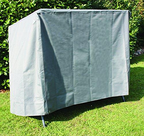 Siena Garden Hochwertige Schutzhülle, aus starkem 600 D Oxford Polyestergewebe innen zusätzlich PVC beschichtet in anthrazit für eine Gartenschaukel, 148 x 150 cm, 135 cm Höhe, Gap 40 54 71