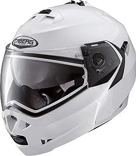 Caberg Klapp Helm Duke II 2 Weiß Metallic Motorrad Sonnenblende Pinlock Jet 2205, C0IA00A5, Größe L (59/60 cm)