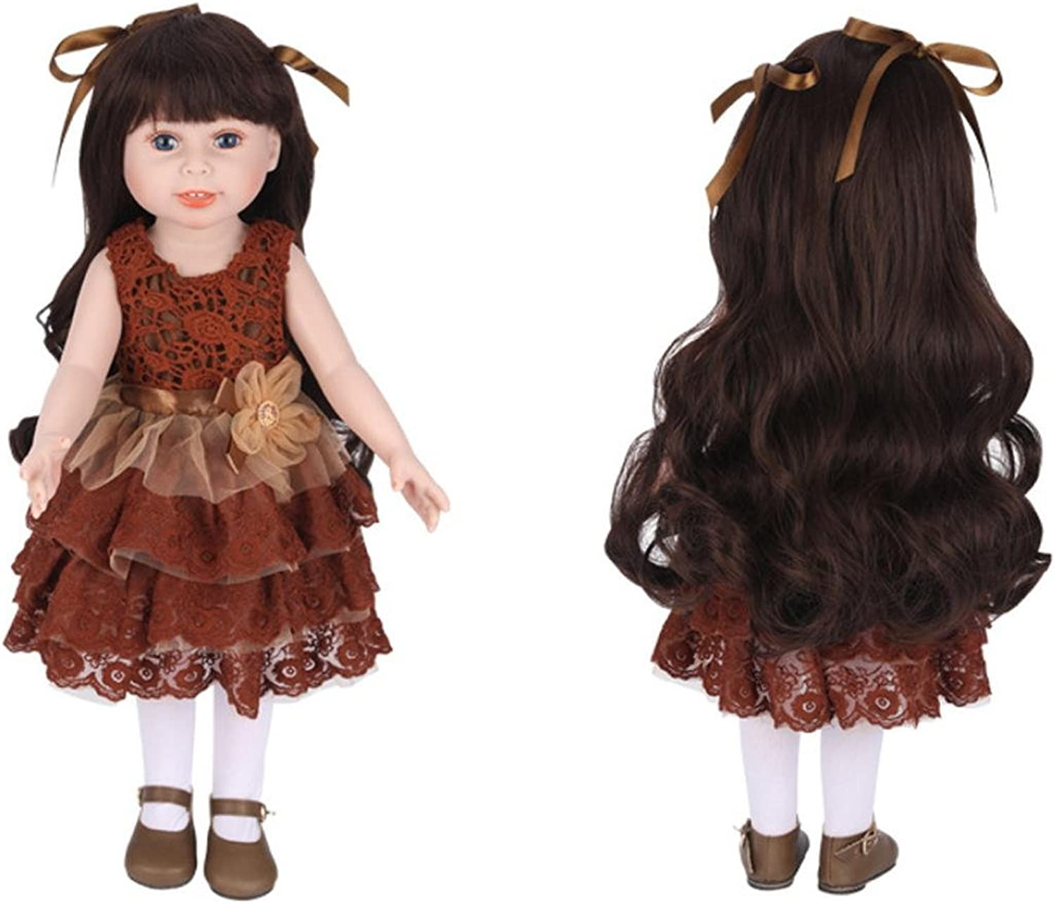 High Simulation Girl Doll Baby Doll Realistic Reborn Dolls Toy With Beautiful Clothes And shoes (A)