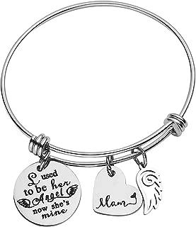 omodofo Memorial Expandable Charm Bracelet Mom Loss Bereavement Gift Keepsake Jewelry