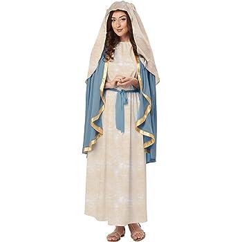 Disfraz de Virgen María para mujer: Amazon.es: Juguetes y juegos