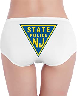 CLLothev1 New Jersey State Police Women's Low Waist Underwear Breathable Cotton Brief Panty