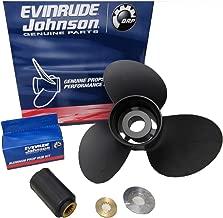 Johnson Evinrude E-Tec 3 Blade Aluminum V-4 Prop Propeller 13 1/4