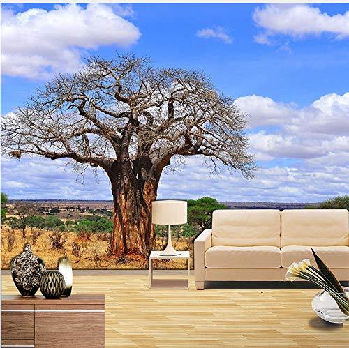 Mural 3d Baobab Baum Fototapete Murals Home Decor Tapeten Wohnzimmer Schlafzimmer Papel Parede 3D Selbstklebende Vinyl/Seidentapete