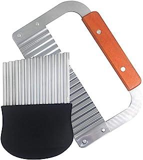 comprar comparacion FineGood - Juego de 2 cuchillos para cortar patatas fritas (18,25 cm, 5,5 pulgadas), cortador de hojas de acero inoxidable...