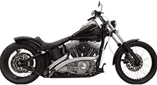 Bassani Xhaust 88-17 Harley FLSTC Radial Sweepers Exhaust (Chrome with Chrome Heat Shield)