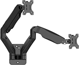 WALI Dual LCD Monitor Fully Adjustable Gas Spring Wall Mount Fit 2 Screens VESA up to 27 inch, 14.3 lbs. Weight Capacity per Arm (GSWM002), Black