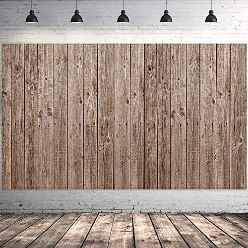 Blulu Scheune Party Hintergrund Dekorationen, Extra Große Rustikal Holz Schild Scheune Abstellgleis Hintergrund Holz Foto Stand Holz Hintergrund für Scheunenhof Party Zubehör, 72,8 x 43,3 Zoll