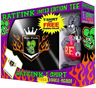 Rat Fink Wacky Wobbler Bobble Head and T-shirt Set