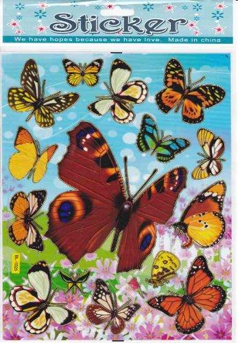 by soljo Papillons Animaux Decal Autocollant de décalque 1 Dimensions de la Feuille: 25 cm x 20 cm