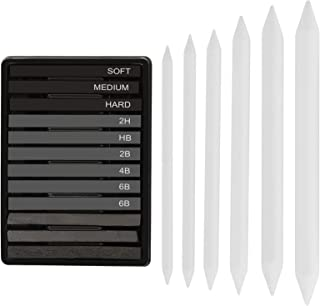 STAPENS Vine Charcoal, Compressed Charcoal and Graphite Sticks with Blending Stump, 18 Pcs Sketch Drawing Set