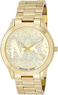 Michael Kors Women's Gold Dial Stainless Steel Band Watch - MK3590