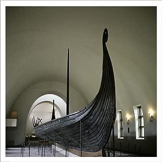 9th Century Viking Ships Oslo, Norway Laminated Art Print, 32 x 32 inches