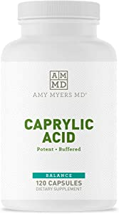Dr Amy Myers Caprylic Acid Capsules 800 mg - Provides Optimal Support for Healthy Balance - Gradual Release, Best Buffered Formula to Support a Healthy Gut and Probiotic - 120 Vegan Capsule