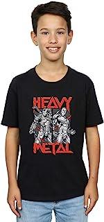 Marvel Niños Heavy Metal Camiseta