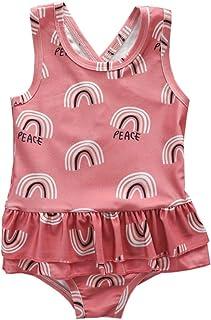 TROSJ Infant Baby Girls One Piece Beachwear Swimsuit Toddler Leopard Print Ruffle Backless Bathing Suit Swimwear