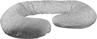 Betty Dain Stretch Jersey Pregnancy/Maternity Pillowcase C-Shape Compatible, Gray