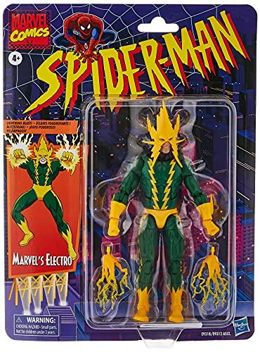 Hasbro Marvel Legends E9318 Series Legends Series-Marvel Electro (Action Figure 15 cm, Collezione Vintage di Spider-Man)