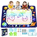 Betheaces Magic Doodle Drawing Mat - Extra Large Water Drawing Mat Toddler Toys Gifts Paint Writing Color Mat Kids Toys for 3 4 5 6 7 8 Year Old Boys Girls 40 x 28 Inches