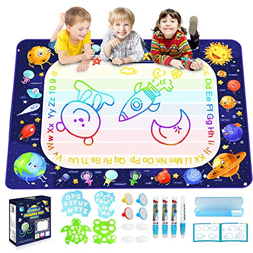 Betheaces Magic Doodle Drawing Mat  Extra Large Water Drawing Mat Toddler Toys Gifts Paint Writing Color Mat Kids Toys for 3 4 5 6 7 8 Year Old Boys Girls 40 x 28 Inches