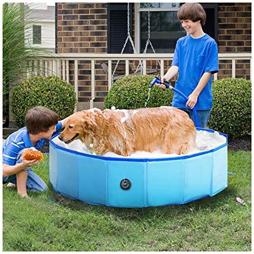 Opvouwbaar hondenzwembad Opvouwbaar huisdierbad Zwembad Opvouwbare kattenbad Draagbare PVC Kiddie-zwembad,XXL(120 * 30CM)