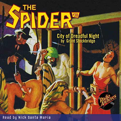 Spider #38, November 1936 audiobook cover art