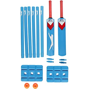 Slazenger Unisex Academy Plastic Cricket Set Outdoor