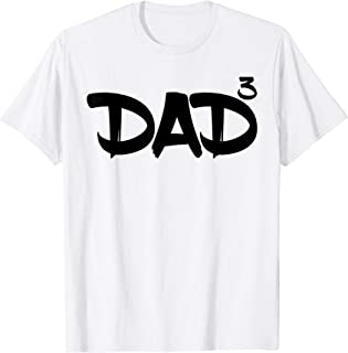 Dad 3 Kids 3rd Pregnancy Announcement Third Baby TShirt