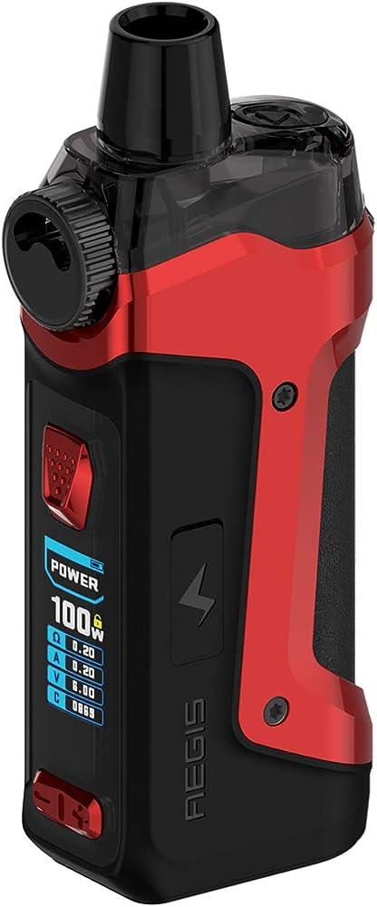 Geekvape aegis boost pro kit 100 w capacita` 6 ml serbatoio impermeabile alimentato da una batteria 18650